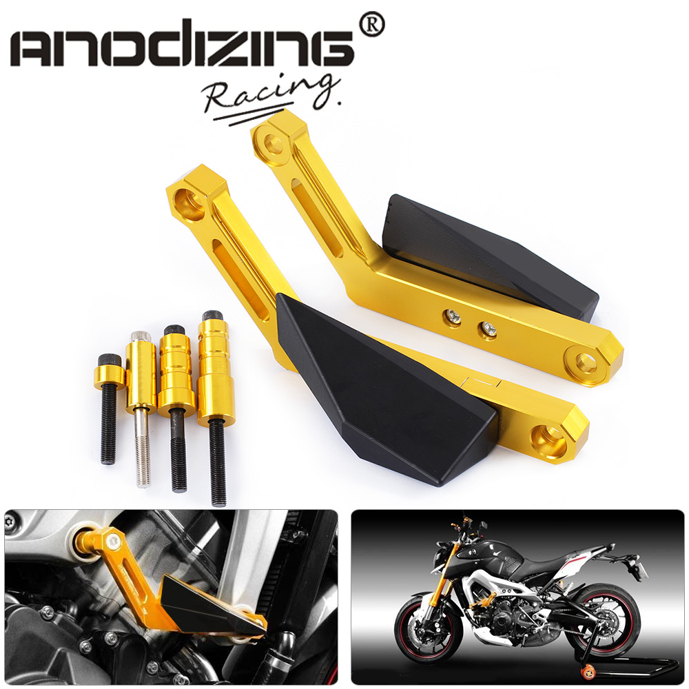 Motorcycle Frame Sliders Crash Falling Protection Anti Crash Protectors For YAMAHA MT-09 MT09 TRACER FZ09 FJ09 motorcycle frame sliders crash falling protection anti crash protectors for mt09 fz09 mt 09 fz 09 fz mt 09 2013 2014 2015 2016