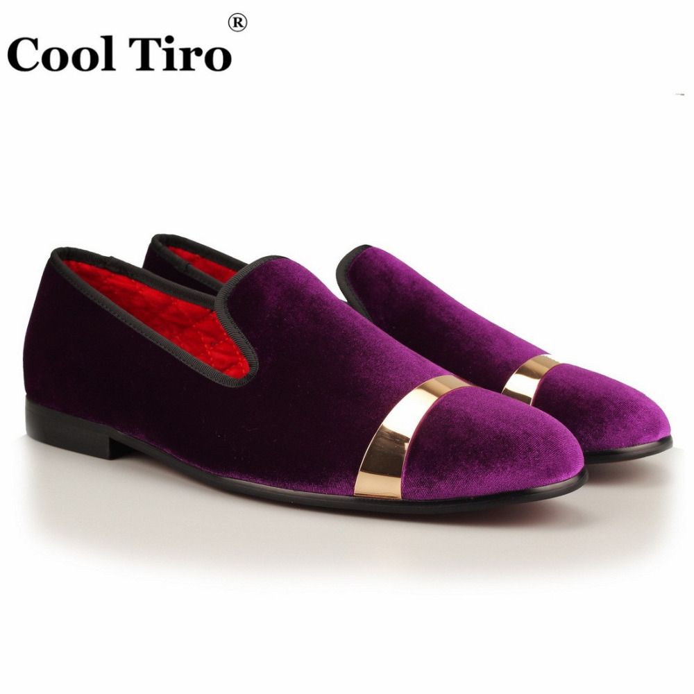 Lujo Terciopelo Oro blanco verde Los Metal Cool Negro Diseño Zapatillas Púrpura púrpura Mocasines Partido Tiro Zapatos Sábanas De Hombres Y Boda EB0wZqS