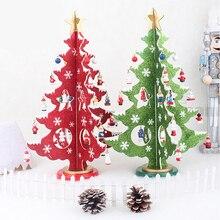 Hot Selling DIY Wood Christmas Tree,New Creative Gifts Cartoon Christmas Decorations Table Desk Xmas Ornaments,Enfeites De Natal
