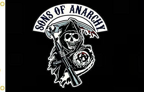 Sons Of Anarchy Black Flying Large Outdoor Flag 3' x 5