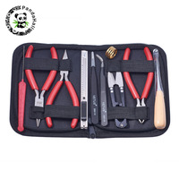 Jewelry Tool Kit DIY Tools Set Equipment For Jewelry Making Repair with Plies Scissor Beading Tweezers and Pins ,10pcs/set