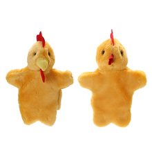 Cute Animal Hand Puppet Lovely Cock Hen Hand Doll Kids Favor Stage Play Soft Plush Doll Toy Baby Sleep Story Puppet
