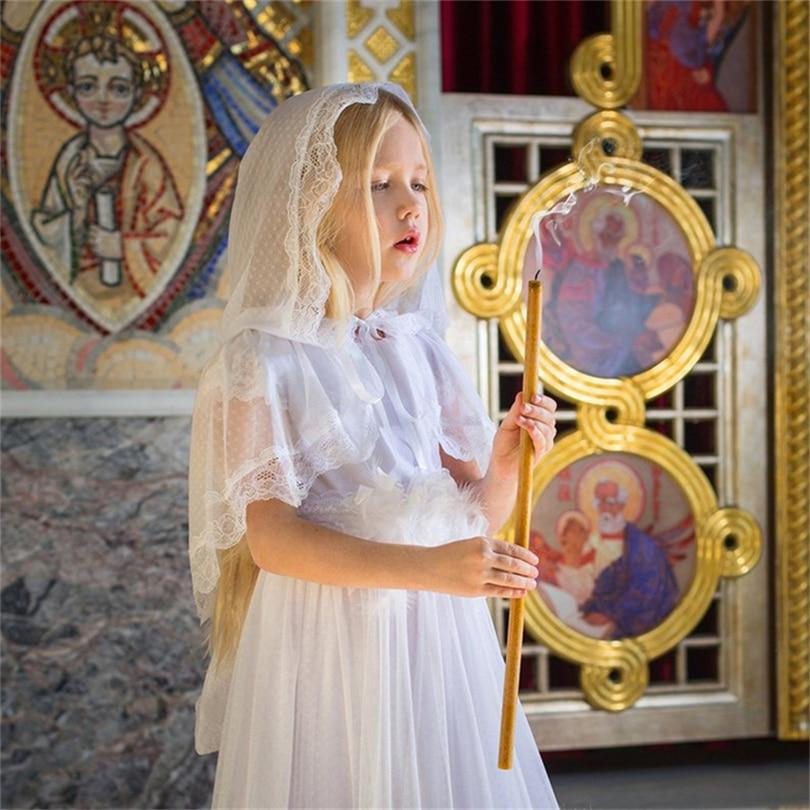 Little Girls Kid Children Lace Catholic Veil Mantilla For Church Head Covering Latin Mass Mantilla Negra Voile Mantilla De Novia