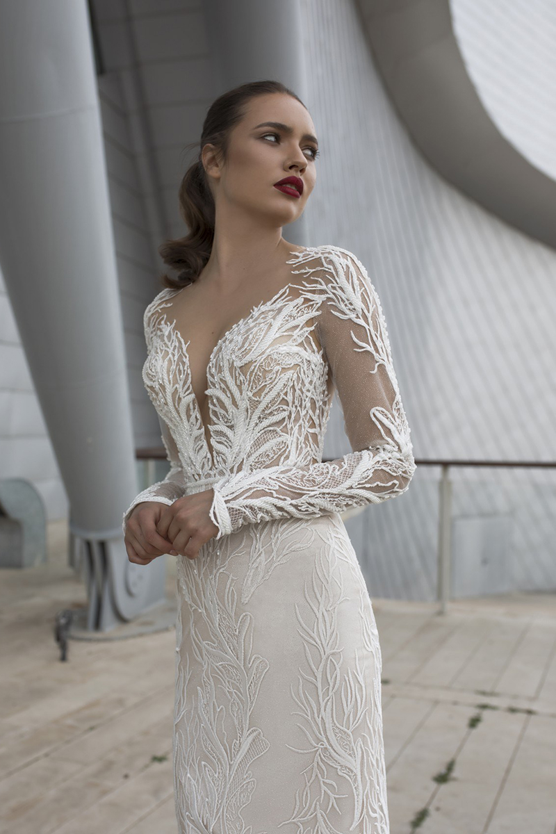 Beading Lace Eslieb Mermaid Wedding Dresses Wedding Gowns Weding Bridal Bride Dresses Wedding Dress V Neckline XY003
