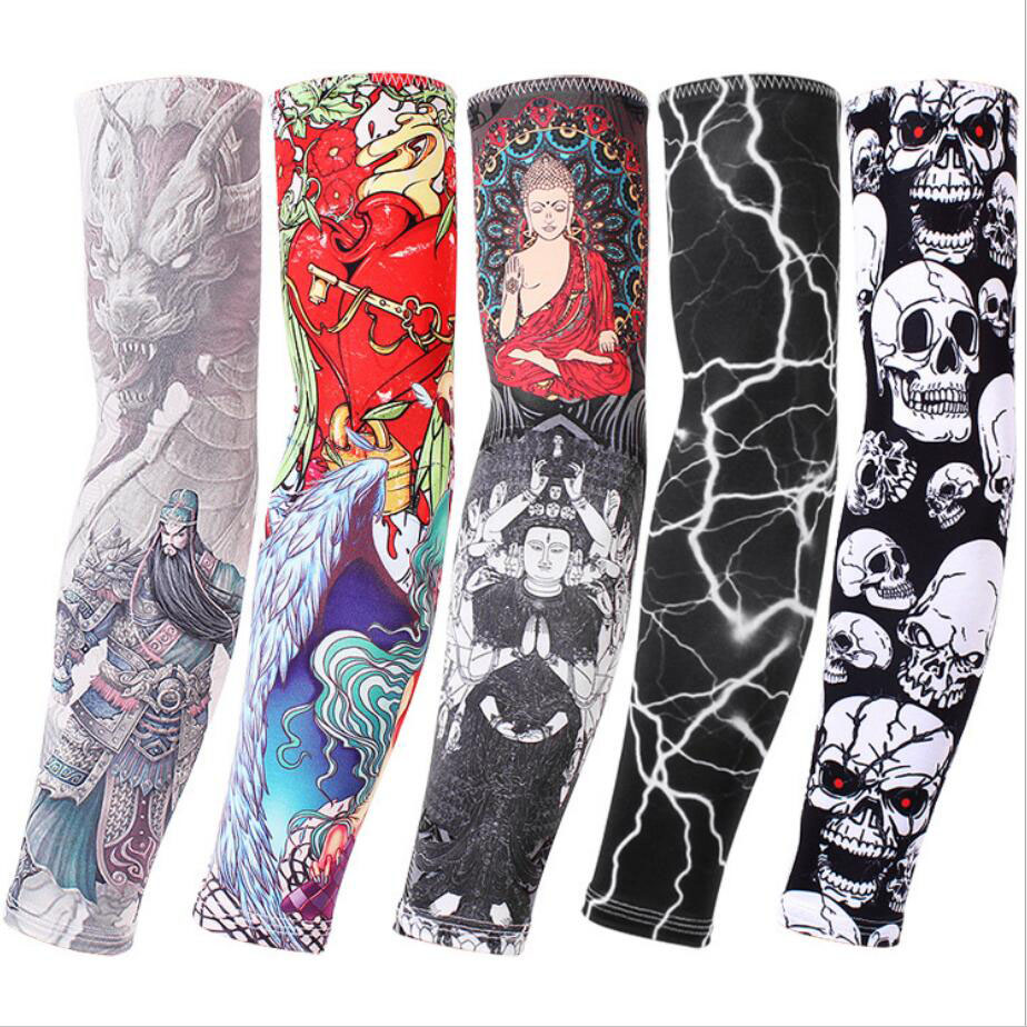 Men's Arm Warmers Lovely 1 Pair Of Ice Silk Sunblock Sleeve Outdoor Cycling Colorful Arms Tattoo Tattoo Male And Female Arms Cover Fishing Sleeve Men's Accessories