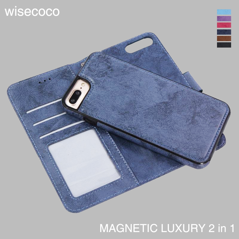 For Apple iPhone XS Max X XR 5 SE 6 6s 7 8 Plus Case Wallet Couqe Magnetic Luxury Leather Funda 7Plus 8plus Cover Protect Shell