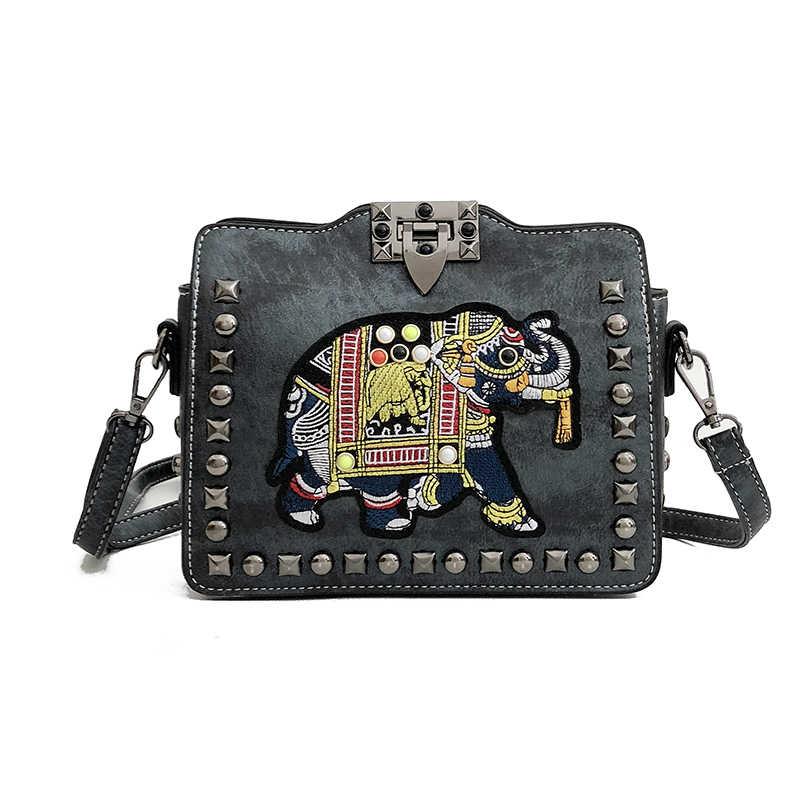 286bac00ab New Fashion Women PU Leather Messenger Bag Elephant Handbag Ladies Small  Crossbody Bag Women Designers Rive
