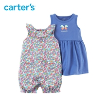 3pcs clothing sets butterfly Dress floral Romper with a diaper cover Carter s baby girl cotton