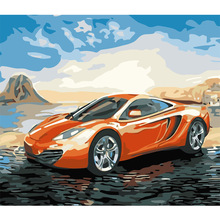 WEEN Sportcar- Paint by Number Kits for Adults, DIY Painting Numbers on Canvas with frame, Home decor,Acrylic 16x20inch