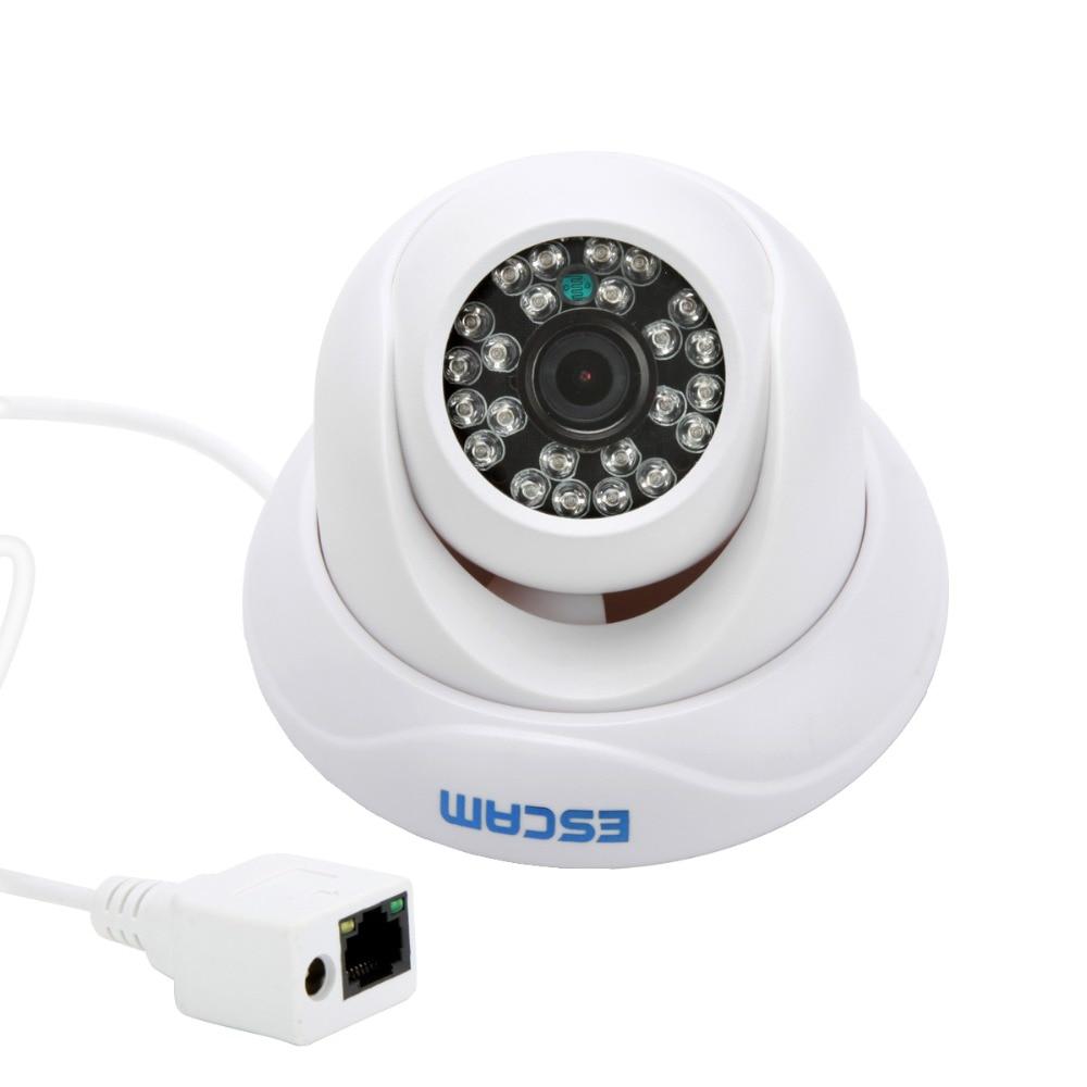 ESCAM QD500  720P DWDR IR IP Dome  Camera P2P Cloud Storage ESCAM QD500  720P DWDR IR IP Dome  Camera P2P Cloud Storage