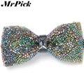 2016 красочные кристалл галстуки-бабочки мода свободного покроя бизнес горный хрусталь мужчин T0011