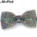 2016 Colorful Crystal Bow Ties Fashion Casual Business Rhinestone Men Bow Tie T0011