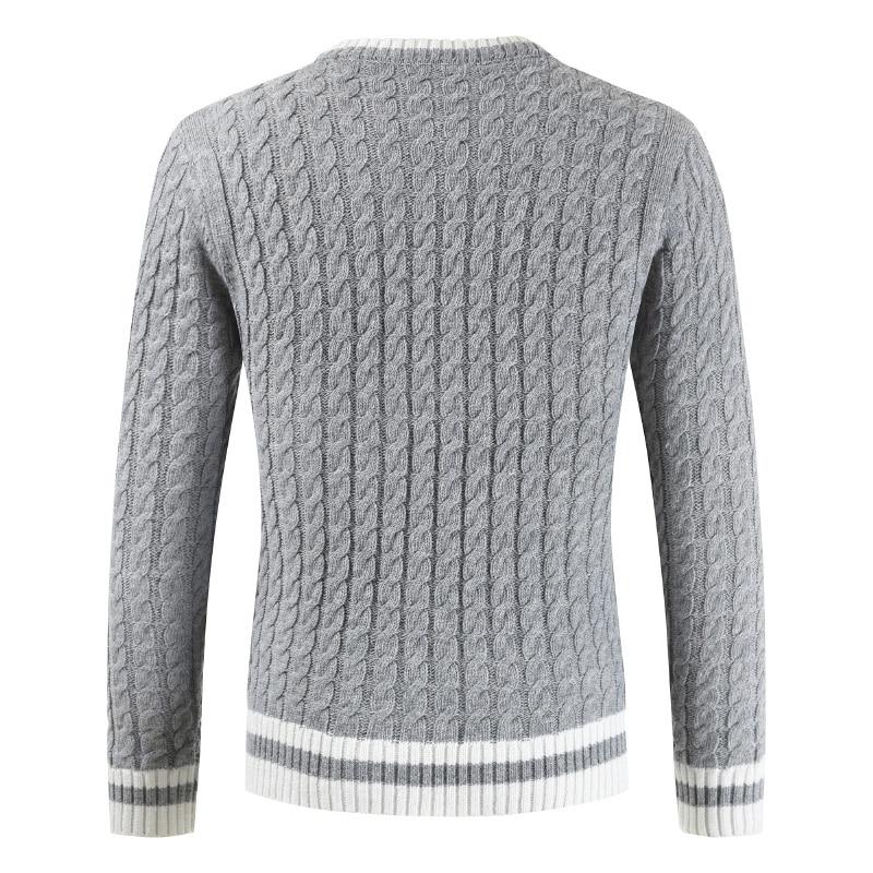 Mens Sweater 2019 New Men's Long-sleeved Pullover Sweater, Circular Neck Sweater, Four-color Sweater