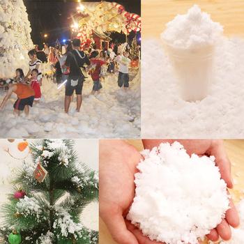 Boże narodzenie magiczne śnieg w proszku natychmiastowy Xmas ozdoby choinkowe boże narodzenie Home Decor sztuczne śnieg sceny prezent na Boże Narodzenie DIY tanie i dobre opinie CN (pochodzenie) Proszku śniegu HT65004 Christmas Tree Ornament Event Party Supplies