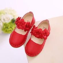 Детские туфли для принцесс, бренд сезон: весна–лето обувь для девочек для малышей и детей постарше туфли из настоящей кожи сандалии для девочек девочки, танцы обувь