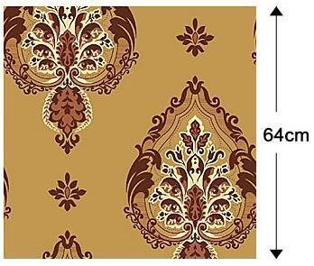 ФОТО VIntage Golden Italian Velvet Flock Textile Wallcovering noise insulation papel de parede Wallpaper