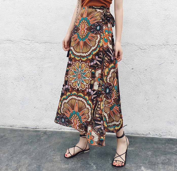 Boho Asymmetrical Chiffon Maxi Long Skirts 43