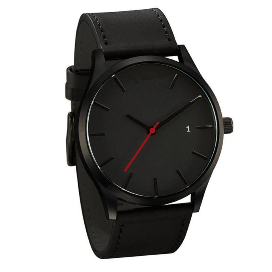 Dropshipping Couple Fashion Leather Band Analog Quartz Round Wrist Business men's watch Male Clock Wristwatch erkek kol saati