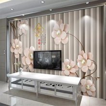Custom wallpaper 3d photo mural royal European stereo luxury pearl flower jewelry background wall papers home decor 3d wallpaper custom photo wallpaper european style figure statue 3d embossed mural hotel living room backdrop mural wall papers 3d home decor
