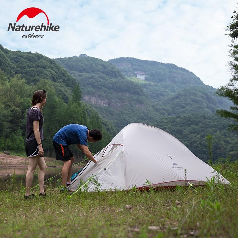 3 személy szabadtéri dupla rétegű túrázás kemping sátor - Kemping és túrázás