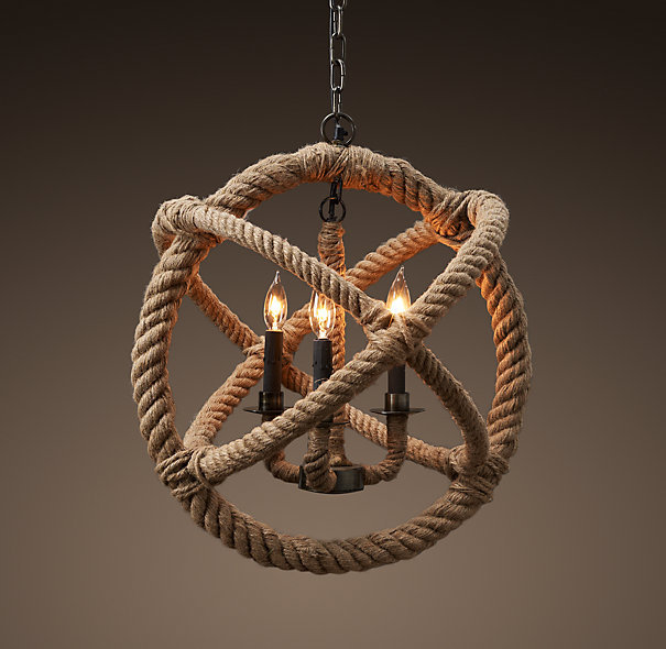 American style pendant light personality hemp rope  nostalgic vintage  preparation of handmade free shopping
