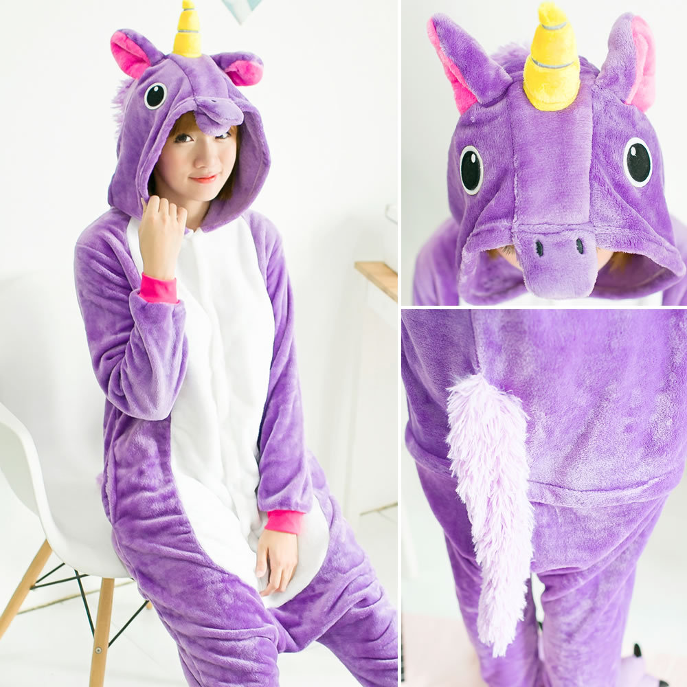 Onesies Costume Sleepwear Unicorn Women Pajamas Sets Winter Flannel Cute Animal Pajamas Women Cartoon Unicornio Cosplay