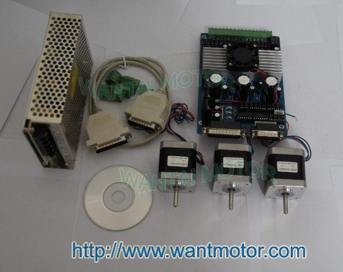 3Axis Nema 17 Stepper Motor 70OZ-IN& Power CNC Cut Mill high 3 pcs nema 17 stepper motor 70oz in 2 5a cnc cutting