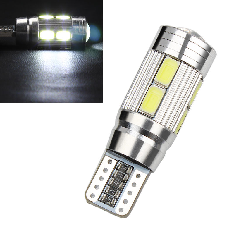 CYAN SOIL BAY W5W 10 led 5630 5730 SMD Projector Lens Canbus Error Free auto Clearance tail Lights T10 CAR Wedge NO OBC ERROR cyan soil bay 1x canbus error free white t10 5630 6 smd wedge led light door dome bulb w5w 194 168 921 interior lamp