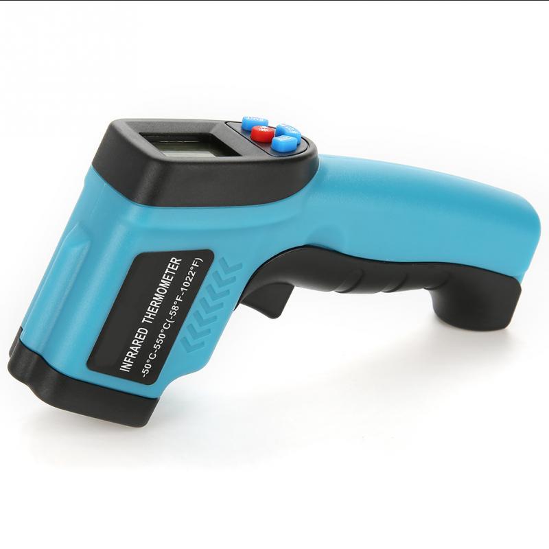Image 2 - GM550E Бесконтактный лазерный термометр пистолет ЖК дисплей ИК  инфракрасный цифровой C/F выбор температуры поверхности пирометр Imager  синийПриборы для измерения температуры   -