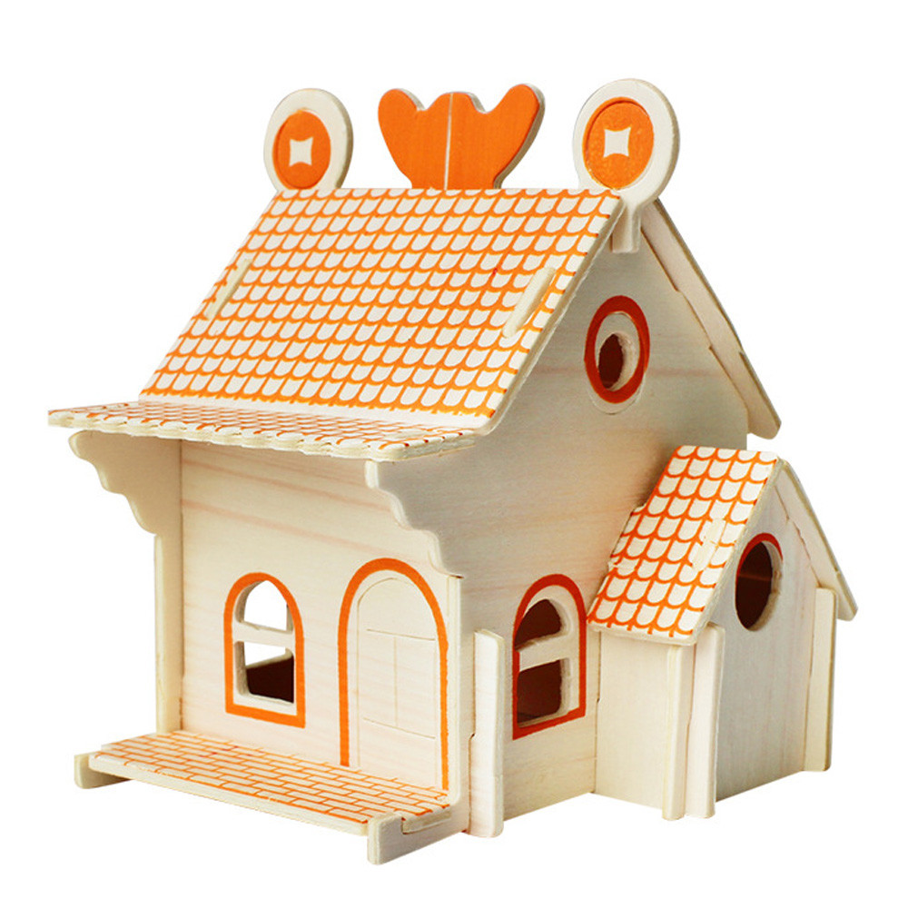 3d Diy Puzzle Jigsaw Baby Toy Kid Early Learning House Construction