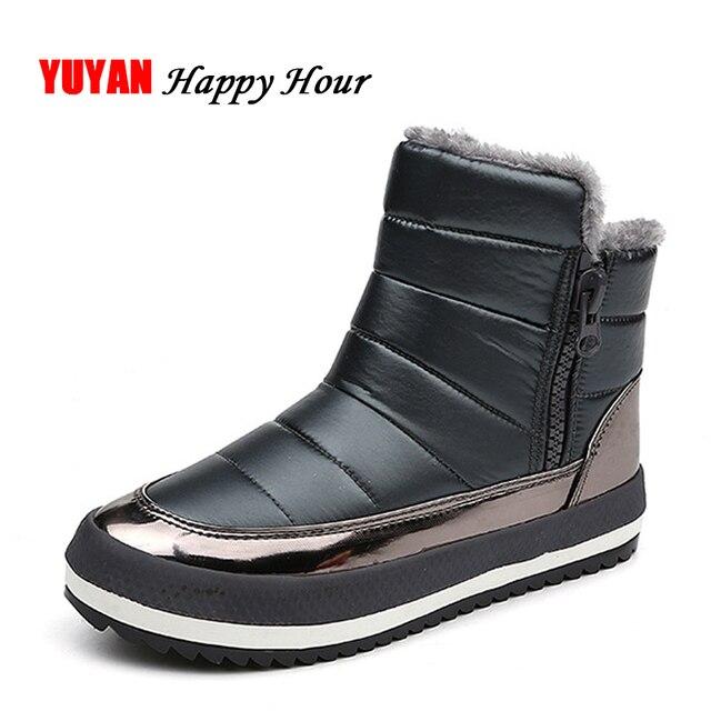 bb5cd8d6c Tela impermeable Botas de nieve mujeres invierno Zapatos felpa caliente para  el invierno frío moda Blusas