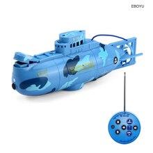 Создать игрушки 3311 6CH Скорость Радио пульт дистанционного управления Управление подводная лодка Электрический мини RC Подводная лодка Детские игрушки по оптовой цене