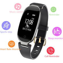 цена Sport Smart Bracelet Heart Rate Smart Band Fitness Tracker Wristband Women Watch for iOS Android pk xiomi mi band 3 m2 fit bit онлайн в 2017 году