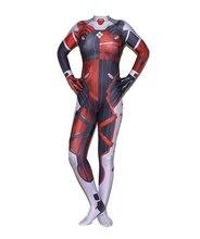 Cosplay Anime Game D.VA Clown Harley Quinn Costume Halloween Jumpsuits Zentai Catsuit
