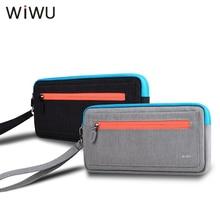 Funda de transporte suave WIWU para Nintendo Switch, Estuche De Viaje portátil para consola NS, bolsa de almacenamiento con 5 soportes para juegos, negro y gris