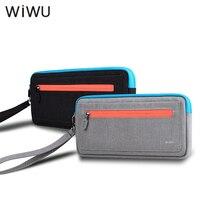 WIWU 소프트 캐리 케이스 닌텐도 스위치 휴대용 여행 케이스 NS 콘솔 스토리지 파우치 가방 5 게임 홀더 블랙 그레이