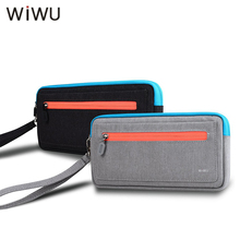 WIWU Soft Carry Case For Nintendo Switch Portable Travel Case For NS Console Storage Pouch Bag With 5 Game Holder Black Gray