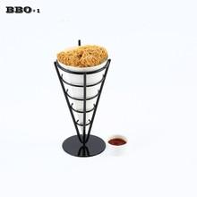 1pcs  KTV dessert pastry basket of fried chicken snack Chips Mini Fry Basket Serving Food French Fries Basket Western Cafe Bar