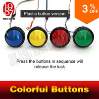 escape room game adventurer prop colorful button prop press four magic color buttons in right order to run out secret room