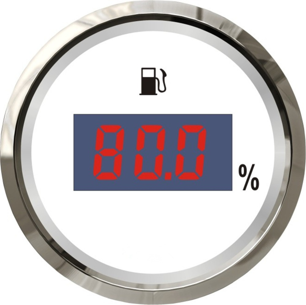 Back To Search Resultsautomobiles & Motorcycles Honesty 1pc Digital Fuel Level Meters 52mm White Color Fuel Level Gauges 0-190ohm Or 240-33ohm 12v/24v Suitable For Boat Auto Gauges