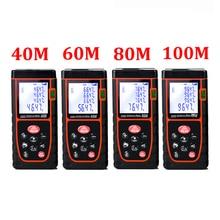 On sale Laser level range finder Distance Meter 40M 60M 80M 100M  nivel laser rangefinder ruler Finder Diastimeter tape Measure D1013