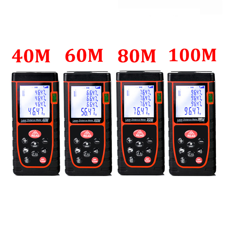 Laser level range finder Distance Meter 40M 60M 80M 100M  nivel laser rangefinder ruler Finder Diastimeter tape Measure D1013 laser distance meter 40m laser rangefinder laser meter range finder