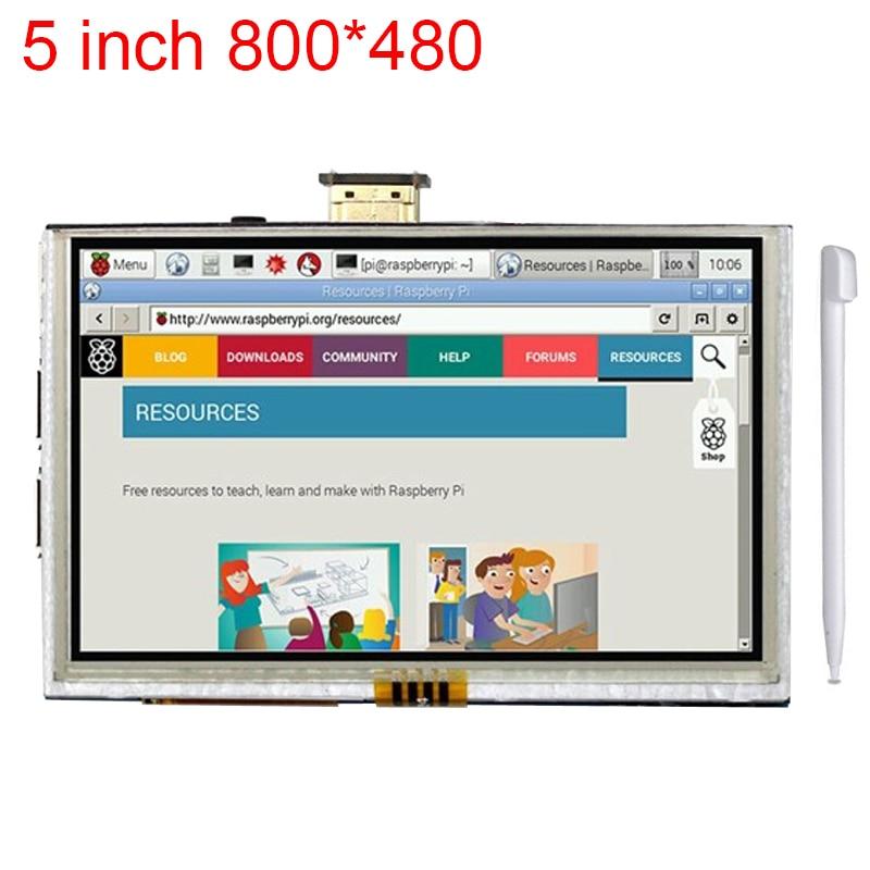 5 inch Raspberry Pi 3 LCD Touch Screen HDMI Interface Display Module TFT LCD 800*480 for Raspberry Pi 2 model B/B+