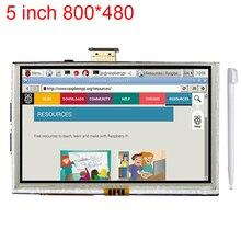 5 дюймов Raspberry Pi 3 ЖК-дисплей Сенсорный экран HDMI Интерфейс Дисплей модуль TFT ЖК-дисплей 800*480 для Raspberry Pi 2 Модель B/B +