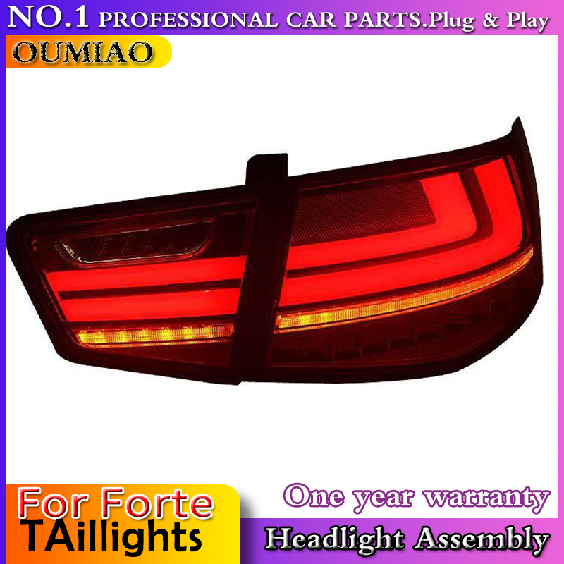 OUMIAO Car Styling for Kia Forte 2010 2013 Taillights Cerato LED Tail Lamp Forte Rear Lamp DRL+Brake+Park+Signal led light