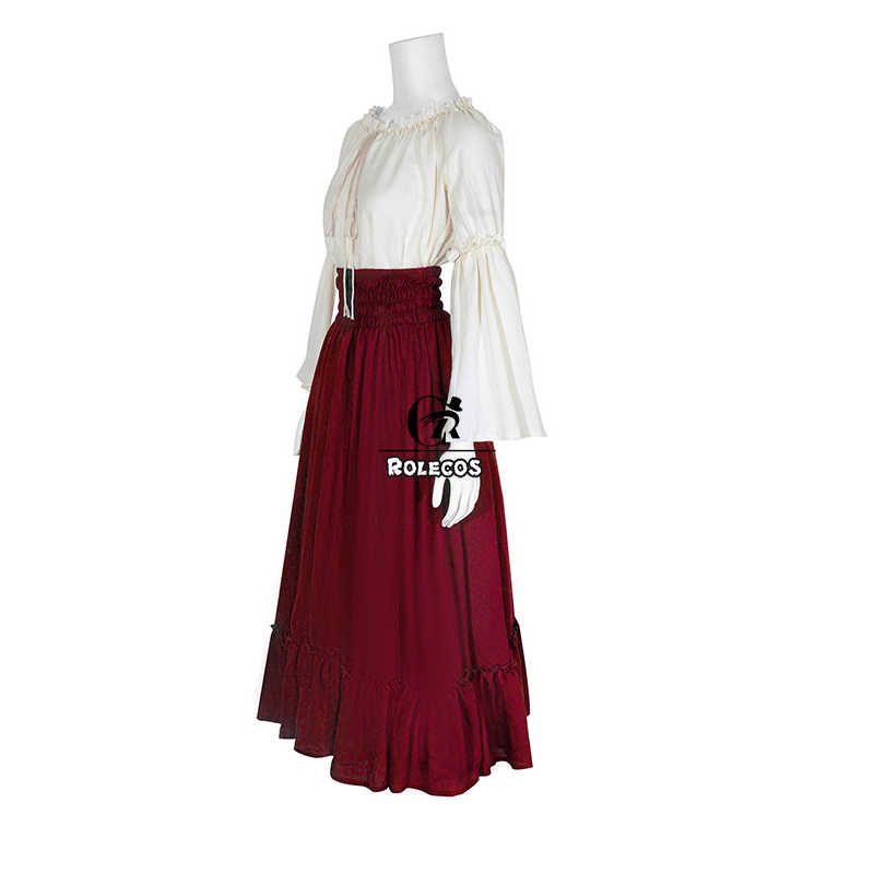 ROLECOS Frauen Lolita Kleid Viktorianischen Anzug Mode Lange Ärmel Kleid Süße Rock Vintage Cosplay Kostüme für Partei