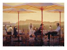 Art for office space Winery Terrace Brent Lynch Paintings High quality hand painted