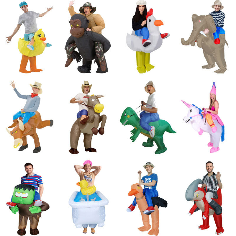 Dinosaur Inflatable Suit Inflatable Clothes Adult Children Cosplay Animal Cartoon Man Inflatable Costume Christmas Costume
