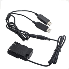 DR E6 manequim adaptador de acoplador de bateria + cabo usb duplo para canon 6d 7d 5d mark ii iii iv 70d 80d power bank & usb soquete como LP E6