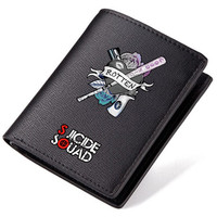 Suicide Squad Wallets Movie Theme Long Purse with Zip Pocket Coin Change Students Carteira